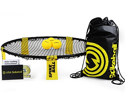 Spikeball 3 Ball Kit - Played Outdoors, Indoors, Lawn, Yard, Beach, Tailgate, Park - Includes 3 Balls, Drawstring Bag, and Rule Book - Game for Boys, Girls, Teens, Adults, Family