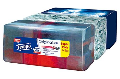 Tempo Taschentücher Trio-Box, 3 x 80 Tücher (240 Tücher) -
