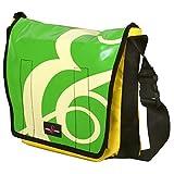 Sturm & Drang - Maxi borsa messenger bag a tracolla in tela cerata - Borsa università