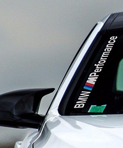 """BMW M Performance Windschutzscheibe 50 cm Aufkleber Sticker Auto Tunig Decal+ """"Estrellina-Montage-Rakel®"""",Estrellina-Glücksaufkleber®, gedruckte Montageanleitung von """"myrockshirt"""", Versand erfolgt aus Deutschland innerhalb von maximal 48 Stunden, in einem stabilen Versandkarton,waschanlagenfest,Profi Qualität Aufkleber, Tuning,St"""