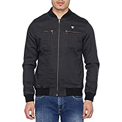 Arrow Mens Cotton Jacket (8907538767493_AJUJK4916_Medium_Dk. Blue)