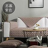 AFAHXX Minimalismus Anti-rutsch Gesteppter Sofahusse sofaüberwurf,Heavy 100% Baumwolle Sofabezug für Sofa Dick Sofa Überwürfe Sitzkissen-B 70 * 90cm(28 * 35inch)