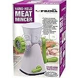Hand HELD Manual Meat Mincer 2 Blades Chicken Beef SPICETABLETOP Grinder Kitchen