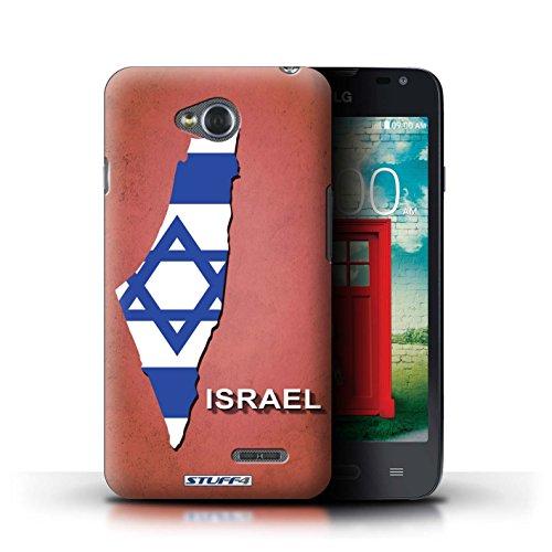 Kobalt® Imprimé Etui / Coque pour LG L65/D280 / Amérique/Américain/USA conception / Série Drapeau Pays Israël/Israélien