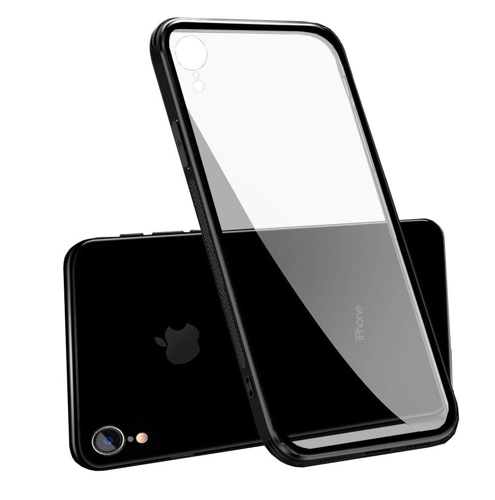 463d723388f LAYJOY Funda iPhone XR, Ligera Carcasa Silicona Suave Negro TPU Bumper y  Transparente ...