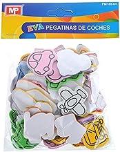 MP PM188-04 - Pegatinas adhesivas de goma Eva con formas