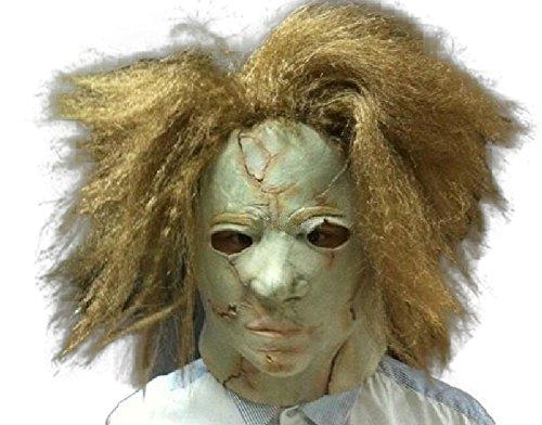 Michael Myers Halloween #2 Film Maske mask Kopf aus sehr hochwertigen Latex Material mit Öffnungen an Augen Halloween Karneval Fasching Kostüm Verkleidung für Erwachsene Männer und Frauen Damen Herren gruselig Grusel Zombie Monster Dämon Horror Party Party (Michael Myers Erwachsene Herren Kostüme)