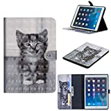 WIWJ Hülle Case für iPad Mini 4,Ultra Slim Gemalt Schutzhülle Lederhülle Schale Für iPad Mini 4-Smiley-Katze