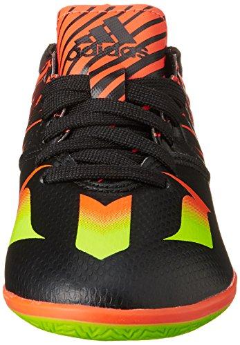 adidas Messi 15.3 In J, Chaussures de Football Mixte Bébé Multicolore - Negro / Verde / Rojo (Negbas / Versol / Rojsol)