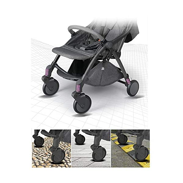 Pushchair 2 In 1 Baby Stroller Travel System,Baby Trolley Newborn Baby Carriage Foldable Can Sit And Lie Down Damping Baby Cart For 1 Month -5 Years Old Ydq TRAVEL ANYWHERE - Airplane travel stroller designed for airplane overhead compartment. It's super compact when folded. With extendable pull rod, it could be dragged anywhere you go with no effort instead of lifting it with your hand. COMFORTABLE SEAT - Lightweight pushchair with reclining backrest enables your baby to rest better in the well-padded seat. The pads on the headrest will help keep your baby's head in position even if it's asleep. The angle of legs support could also be adjusted, providing the most joyful ride for your baby. EASY USAGE - One-hand foldable buggy makes taking your baby for travels or walks a simple pleasure. It could stand on its own so you could take care of your baby with less things to worry about. 2
