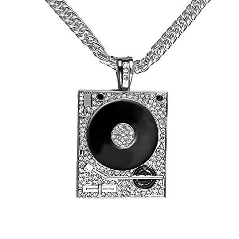 Wjkuku Europe et aux États-Unis Bijoux _ Admission de personnes DJ Phonics Collier Hip Hop Hiphop articles décoré silver