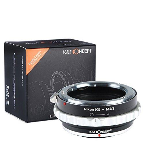 Adaptador AI(G)-M4/3, K&F Concept Adaptador de Montaje de Lentes, Adaptador para Objetivo para Nikon G AF-S F a Micro 4/3 M4/3 Adaptador de Montura G-M4/3