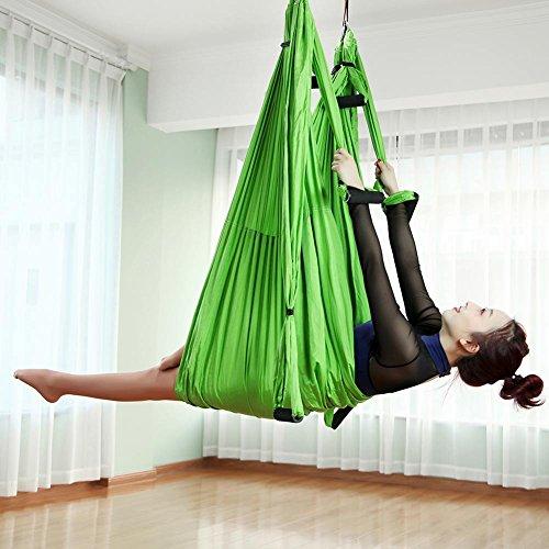 Zhanghaidong yoga amaca anti-gravity yoga swing sling antenna yoga amaca con moschettone & daisy chain premium yoga fai da te aerea sete equipaggiamento kit aereo