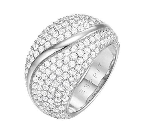 ESPRIT Glamour Damen-Ring ES-ATROPIA rhodiniert Zirkonia transparent Gr. 54 (17.2) - ESRG02844A170