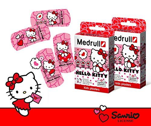 Medrull 2 Packungen Hello Kitty Sensitiv Pflaster für Kinder - Bestes Geschenk (Hello Kitty)