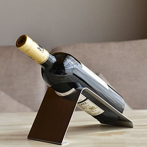 Dekorative Wine Bottle Holder,Edelstahl Weinregal Dekoration Weinflasche Halter Dekorative Kreativ