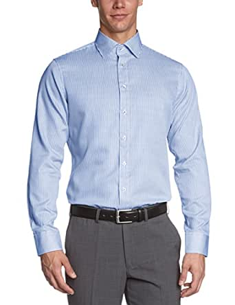 Schwarze Rose Herren Businesshemd Slim Fit 227198, Gr. 39, Blau (14 blau)