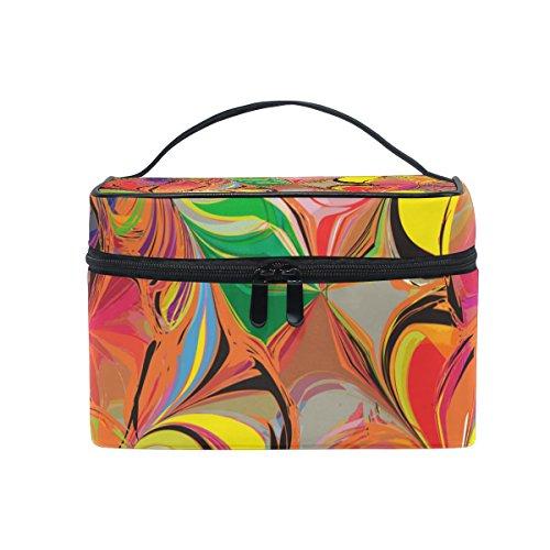 ALAZA Sac cosmétique coloré Maquillage papillon Voyage cas de stockage Organisateur