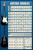 1art1 40133 Poster Guitares Accords de Guitare 91 x 61 cm