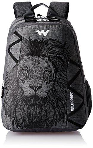 Wildcraft Polyester 35 Ltrs Black and Mel School Backpack (WC...