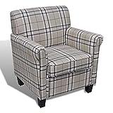 XINGLIEU Polstersessel Sessel mit Sitzpolster Relaxsessel Stoff Wohnzimmersessel 73 x 65 x 81 cm