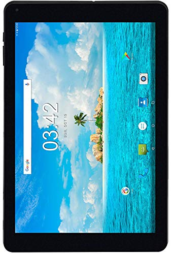 Utopia Home 10.1-Zoll Android 7.0 Tablet - 2GB RAM - 5MP AF Rear & 2MP FF Frontkamera - 1.3GHz Quad-Core Prozessor - 3G (WCDMA 850/1900/2100MHz), Wi-Fi, Bluetooth - 16GB Speicher - Ledertasche
