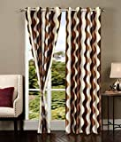 #1: Natura Living Polyester Printed Door Premium Curtain - Coffee