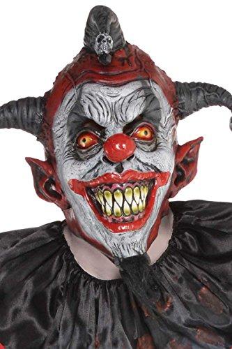 Mens Halloween Evil Killer Jester Maske