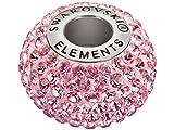 Swarovski Elements Perle de verre et acier inoxydable 14x4,5mm 80101 Rose clair
