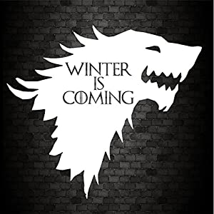 WINTER IS COMING HOUSE of STARK Funny Car Bumper GAME OF THRONES JDM Vinyl Decal Sticker