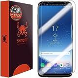 Skinomi TechSkin - Protection d'écran invisible Samsung Galaxy S8 - adapté pour l'utilisation avec housse | Protecteur écran ultra-résistant et facile à installer pour Galaxy S8, lot de 2