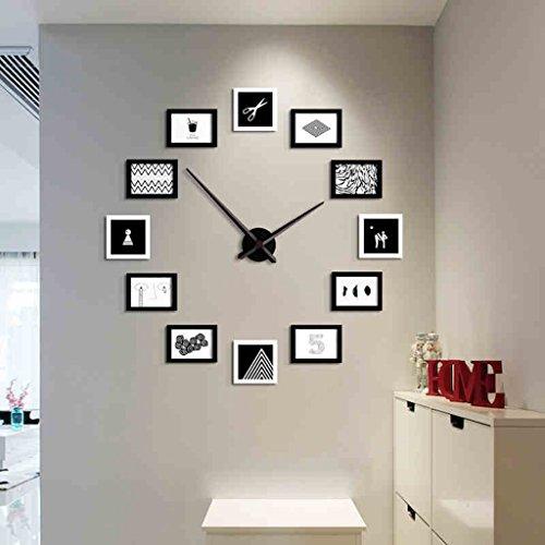 Kreative Kombination Foto Wand Wandrahmen Set, Esszimmer Wohnzimmer DIY Bilderrahmen Wand + Wanduhr ( Farbe : 1# )