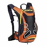 Withu KYD - Zaino da ciclismo con porta casco, 15 l, leggero, dimensione mini, compatto, impermeabile, per escursionismo, sci, trekking, campeggio, alpinismo, Orange, S