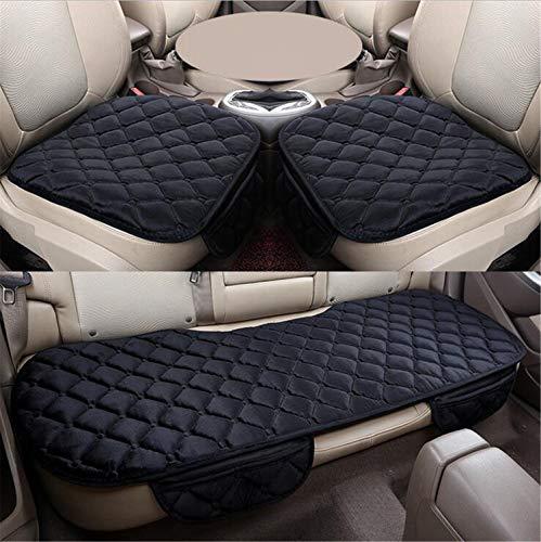 YasLa Roele Auto Sitzauflage Kissen Weich Komfortable Und Atmungsaktive Sitzauflage Kissenbezug Pad Matte Für Bürostuhl Auto Car Supplies Winter Warmer Protector 3 Pack