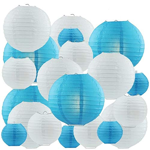 Papier Laterne Papierlaterne 20 Stück Lampenschirm Runde Laterne Papierlampions Zum Dekorieren von Leuchten, Ideal für Party (Papier Laternen Runde)