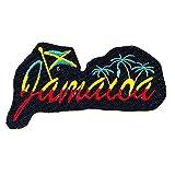 REAL EMPIRE Parche Bordado con la Bandera de Rastafari Jamaica para Planchar o Coser, para Disfraz de Camiseta o Chaqueta