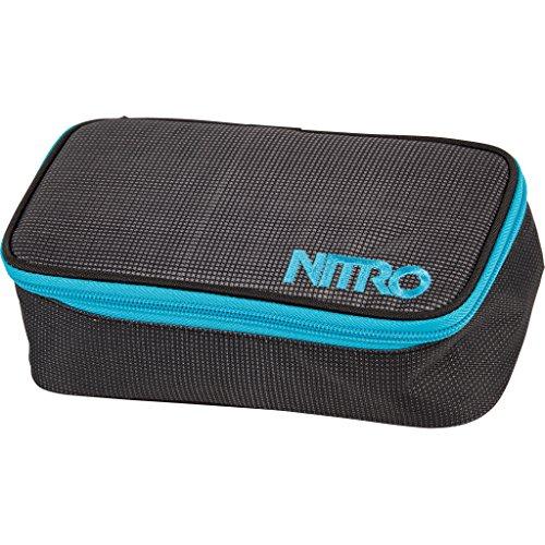 Nitro Pencil Case XL inkl. Geo Dreieick & Stundenplan, Federmäppchen, Schlampermäppchen, Faulenzer Box, Federmappe, Stifte Etui, BLUR BLUE-TRIMS -
