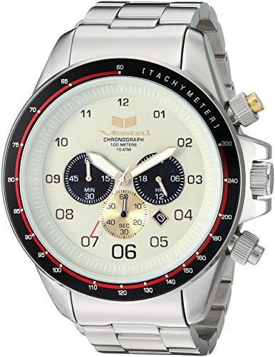 Vestal Men's ZR3' Quartz Stainless Steel Dress Watch (Model: ZR3037) One Size Silver Toned