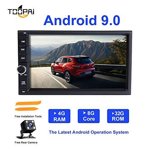 Android Car Stereo, ZLTOOPAI Supporto universale Double 2 Din per Nissan Qashqai X-Trail Almera Note Juke Android 9.0 Octa Core 4G RAM 32G ROM GPS In-Dash per auto