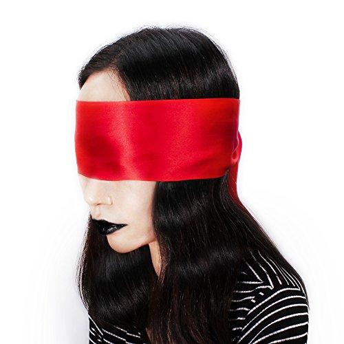 Sabuy SM Augenbinde Augenmaske Sex Spielzeug BDSM Fetisch Bondage für Paar Bett Fesseln (Rot)