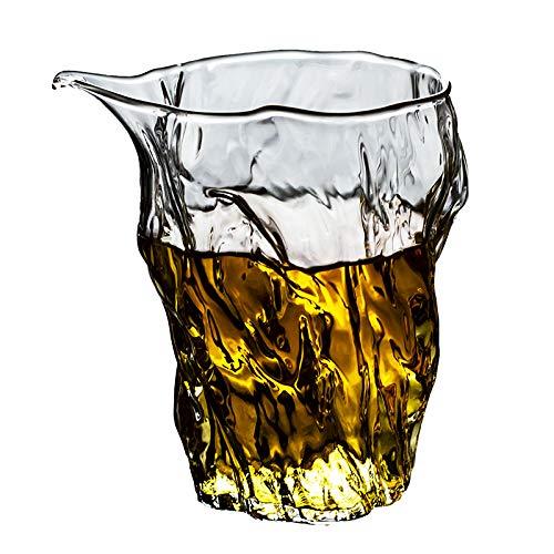 Neunteilige Glas Fair Cup japanische Art hitzebeständig Plus Dicke Hammer Auge gedruckt Glas Meer-Meer Tee-in-The-Meer-Tee-Maschine Tee-Set Tee-Set Zubehör
