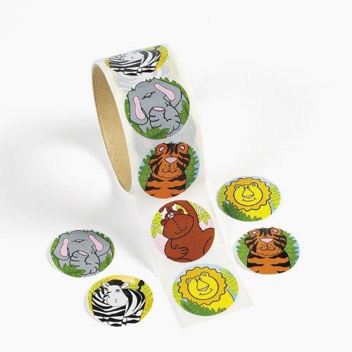cama24com Safari Tiere Aufkleber Zebra Tiger Affe usw. Sticker 100 Stück Palandi®