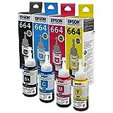 #10: Epson Ink All Colors (T6641-B,T6642-C,T6643-M,T6644-Y) 70 Ml Each for L100/L110/L200/L210/L300/L350/L355/L550