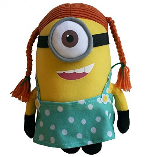 Minion Stuart with Braids Plush - Despicable Me 2 - 28cm 11""