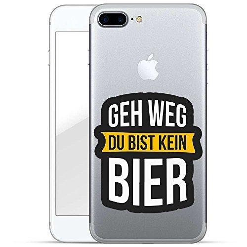 Finoo TPU Handyhülle für dein Iphone 7 Plus/8 Plus Made In Germany Hülle mit Motiv und Optimalen Schutz Silikon Tasche Case Cover Schutzhülle für Dein Iphone 7 Plus/8 Plus-Geh Weg du bist kein Bier