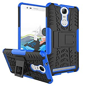 Parallel Universe Lenovo Vibe K5 Note Back Cover Case Dual Layer Rugged and Tough Defender with Built-in Stand - Blue