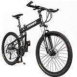 NBWE Pieghevole Mountain Bike Freni a Disco Olio per Biciclette in Lega di Alluminio Carro velocità di Corsa Mountain Bike Studente Bicicletta 24 Pollici 27 velocità Adulto Commuter Bicycle