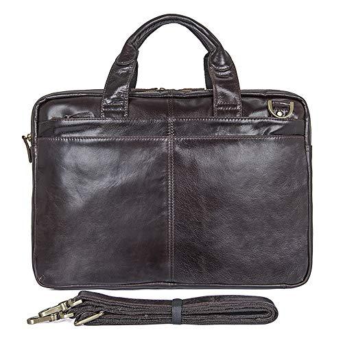 2e65ef48306340 E-Bestar ventiquattrore borsetta lavoro uomo in vero Cuoio genuino pelle  per pc portatili (
