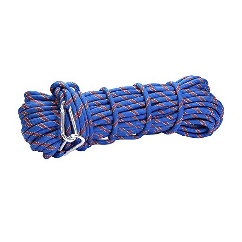 Castaleca 15M(49ft) 300kg 3KN Safety Rock Climbing Rope, Perfessional Rappelling Auxiliary, Diameter 10mm,100%Quality assurance New
