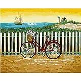 XIAOBAOZISZYH Fahrrad Malen Sie Malerei Durch Digitale DIY Bildmalereifärbung In Der Segeltuchmalerei Mit Den Händen Inneneinrichtung.40 × 50 cm